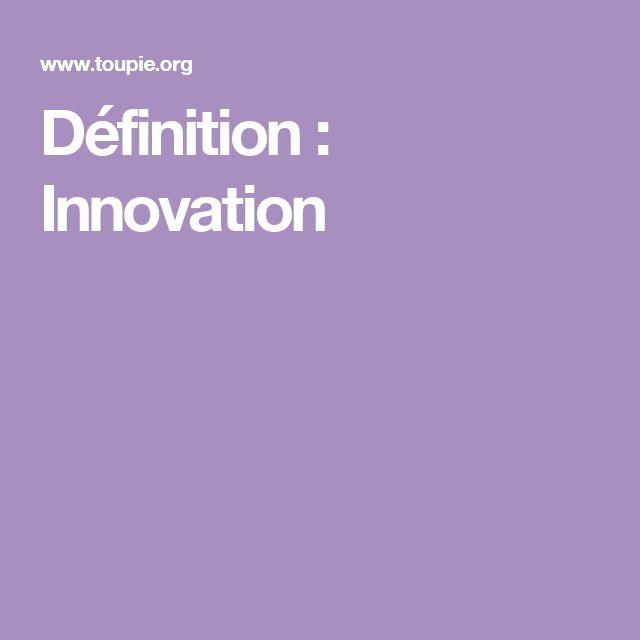 Définition : Innovation VF