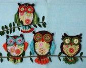 SCREECH OWL- Crochet Pattern (Applique). €4,50, via Etsy.
