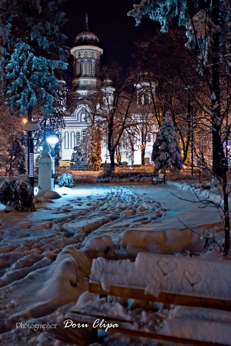 Orthodox Cathedral in Radauti  December 2012 ...foto by Doru Clipa