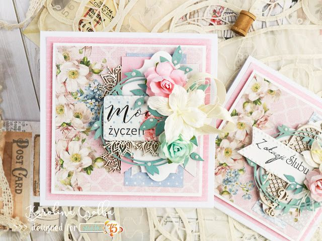 Birthday card with Studio 75 Alice's dreams, Primo, The Peony Avenue collection