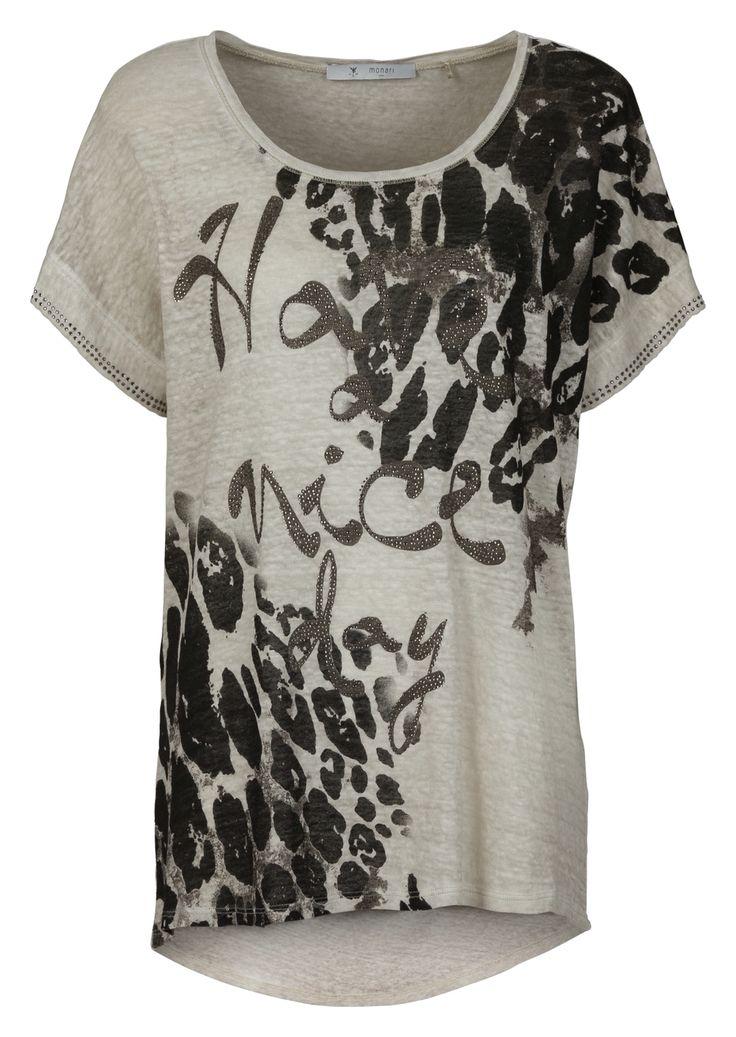 Shirt linnen met print