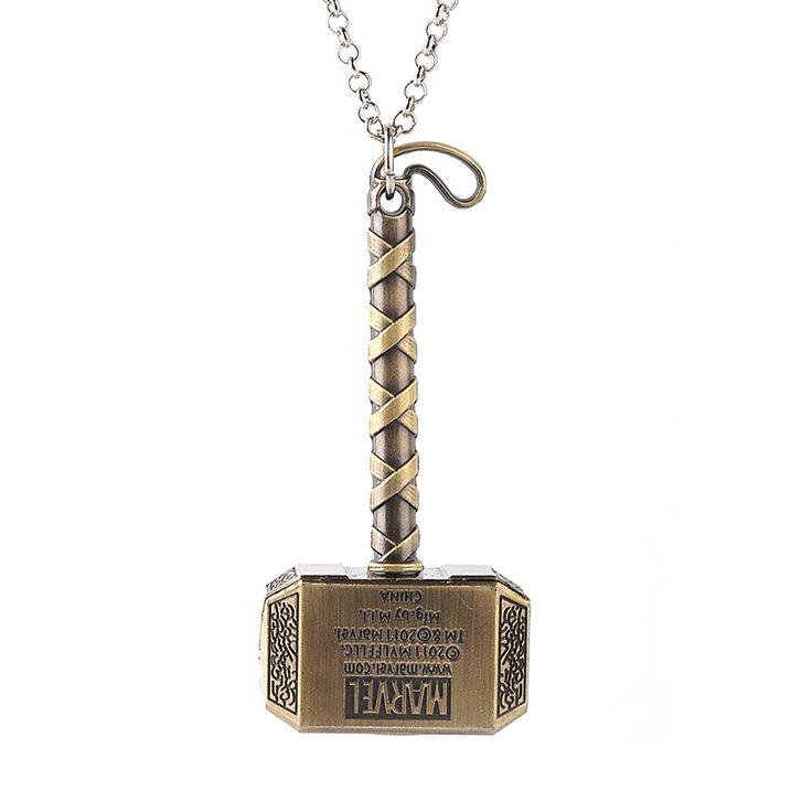 Thor Hammer Necklace Marvel Avengers Dark World Necklace Mjolnir Pendant Necklace Men Jewelry Fans Accessories Factory. Click visit to buy #PendantNeklace