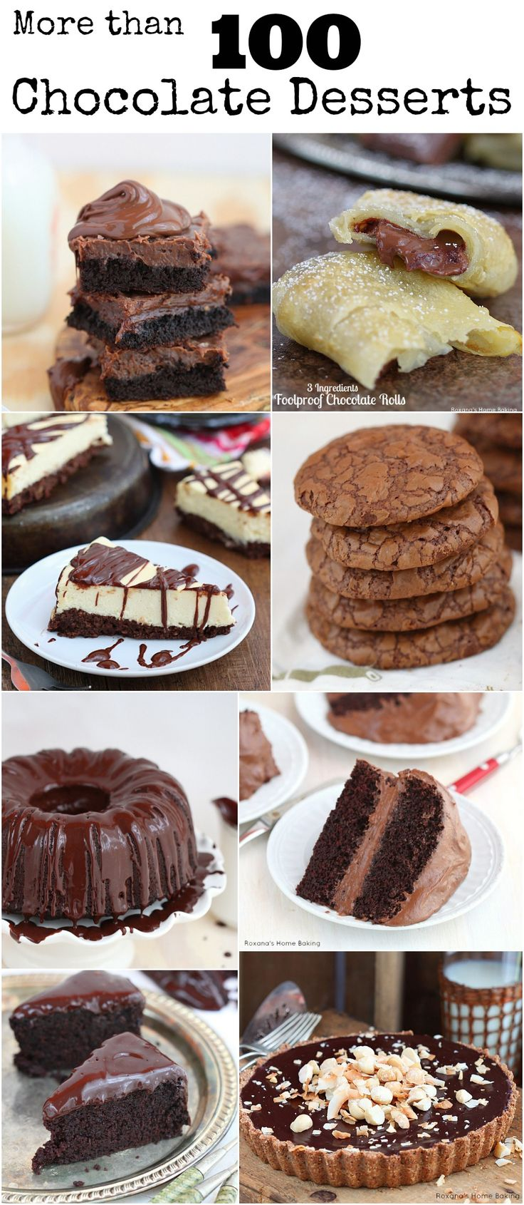 More than 100 Chocolate Desserts Recipes - either you're looking for a decadent dessert or just a quick chocolate fix, these desserts will sure satisfy your cravings