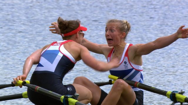 Katherine Copeland and Sophie Hosking won the women's lightweight double sculls to claim Britain's fourth rowing gold medal of the London Olympics.