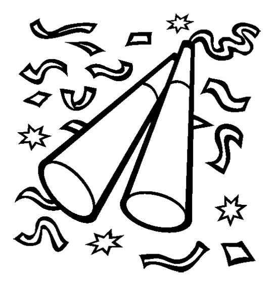 Trumpet New Year Eve Coloring Page New Year Coloring