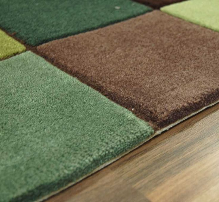 Eden - ED-10 Pixel Green / Brown Rugs | Modern Rugs