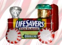 Lifesavers Candy Train Ornament