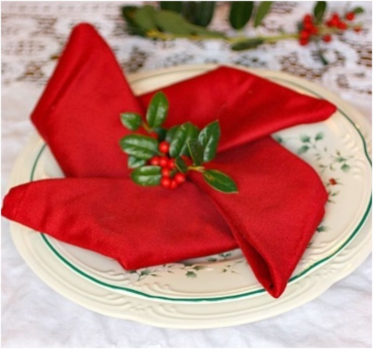 Top 10 Christmas Napkin Folding Tutorials - Top Inspired
