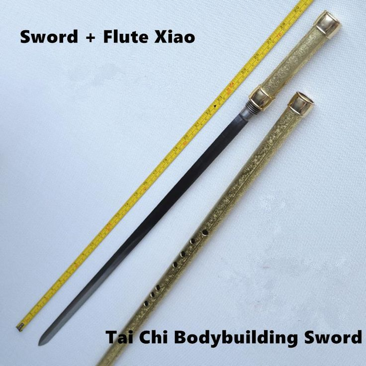==> [Free Shipping] Buy Best Brass Metal Flute Xiao  Sword F Key Tai Chi Bodybuilding Sword Flauta Martial Arts Sword Transverse Flute Self-defense Weapon Online with LOWEST Price   32425924541