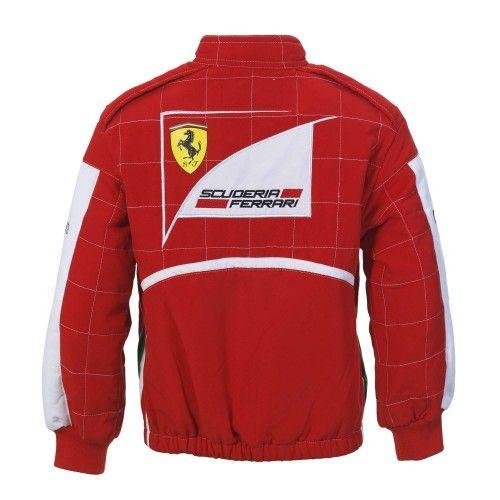 Kid's Ferrari F1 Pilot Overalls Jacket Replica #ferrari #ferraristore #jacket #suit #overall #pilot #pilotoverall #red #rossoferrari #cavallinorampante #prancinghorse #kids
