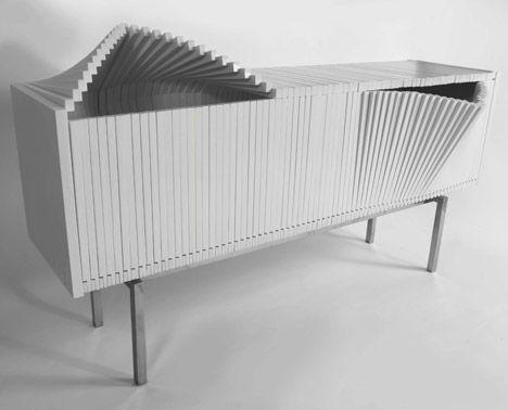 The Wave cabinet by Sebastian Errazuriz