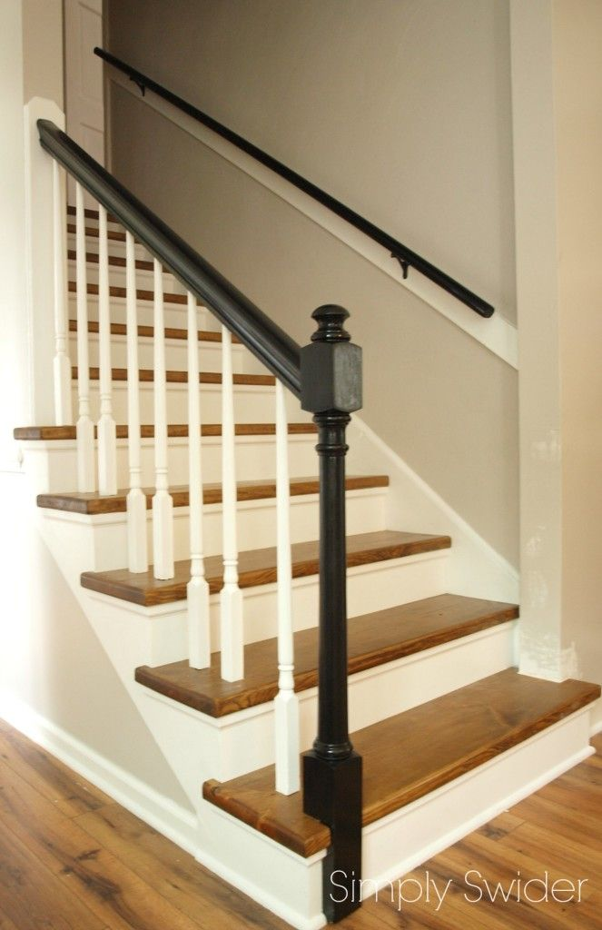 Carpet To Wood Stair Makeover Reveal