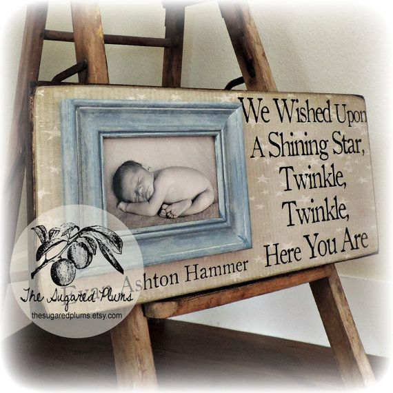 BABY PICTURE FRAME Personalized Custom Picture Frame 8x20 Adoption Dedication…