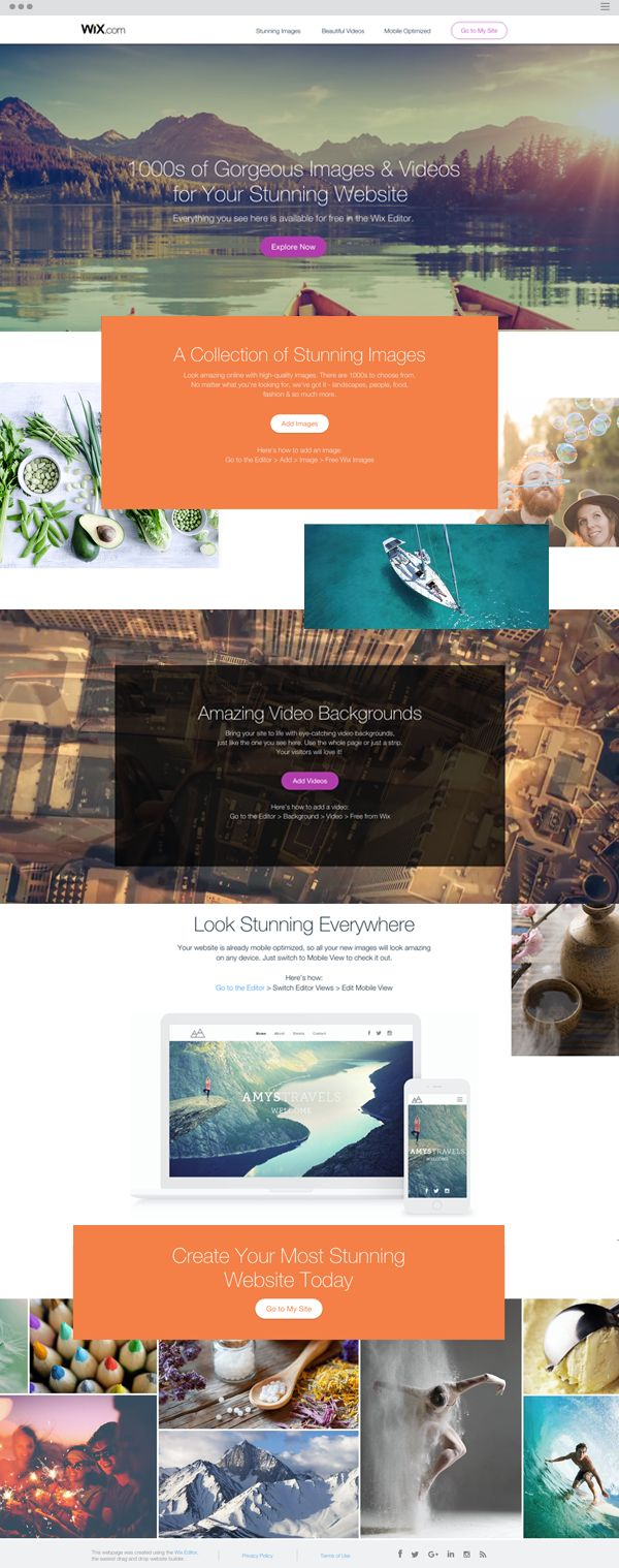 Browse 1000s of gorgeous images and videos for your stunning website - free! No matter what you're needs are, we've got it - landscape, people, food, fashion...