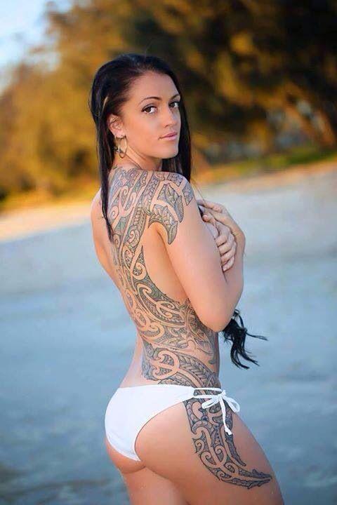 Polynesian back tattoo, beautiful! #polynesian #tattoo