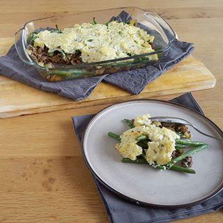 Lekker Hollands: ovenschotel met gehakt, sperziebonen en aardappel. Maar deze heeft een twist...
