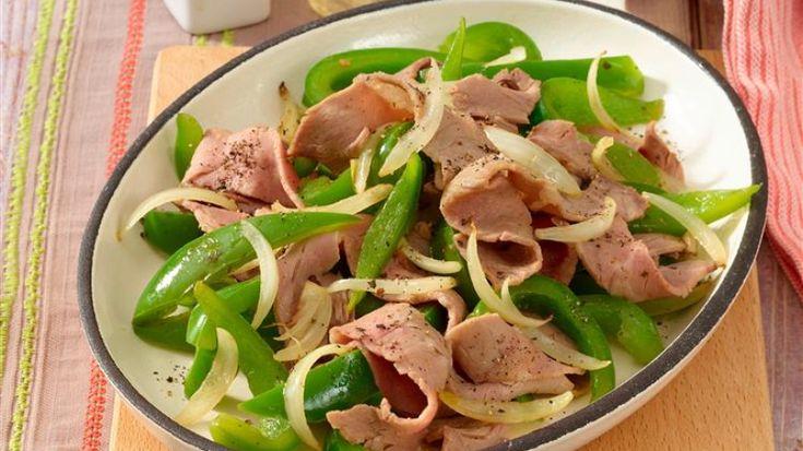 Ob als Vorspeise oder kleiner Snack, Roastbeef mit Paprika ist sowohl Low-Carb als auch fettarm und schnell gemacht.