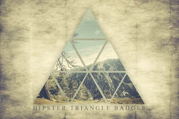 Check out Hipster Triangle Badges by TSV Creative on Creative Market