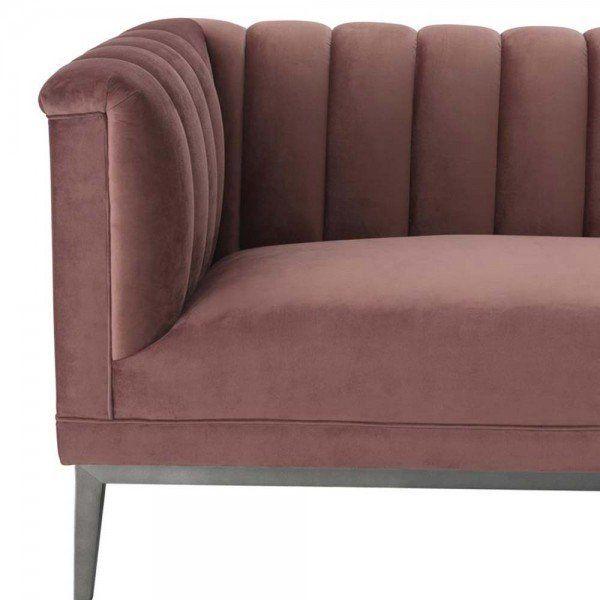 Eichholtz Samtsofa Raffles 3 Sitzer Grau Altrosa In 2020 Samt Sofa Sofa Sofa Design
