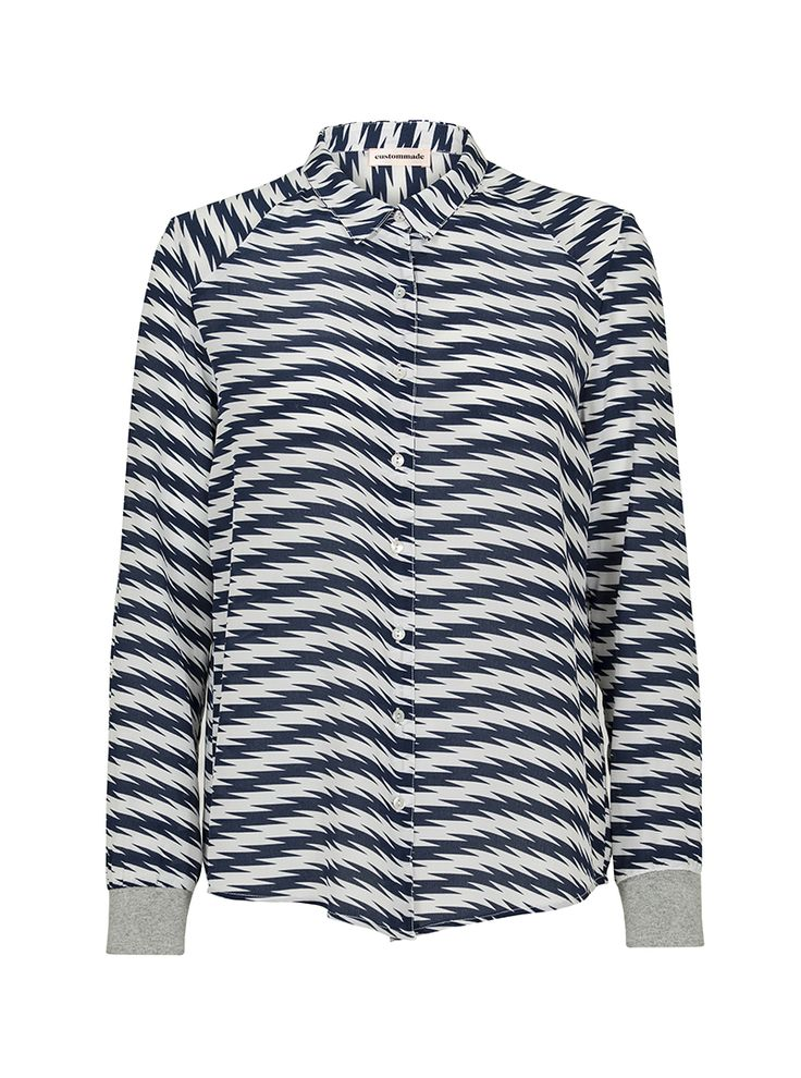 Vernie Striped Silk Shirt | Custommade.dk