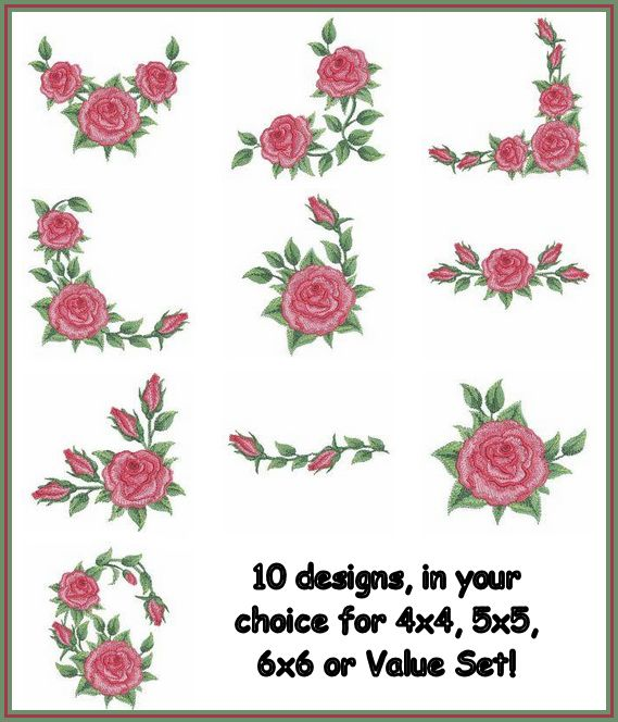 """""""Watercolor Red Roses"""" if everything isn't  quite 'coming up roses' for you, then make it! That's right, bring those roses right into your life! 10 realistic roses, your choice of 3 sizes or the Value Set!"""