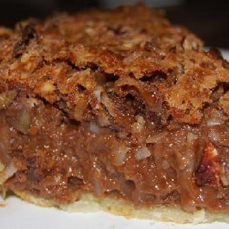 So Good!!! This recipe came from an Amish woman who sold baked goods at our local Farmer's Market. She was so generous to give out her great recipes.  She made the pie crust from scratch, of course. But you can buy refrigerated crust or frozen, if you prefer.  This pie is something like pecan pie. Its baked (not a pudding) and very rich and decadent.