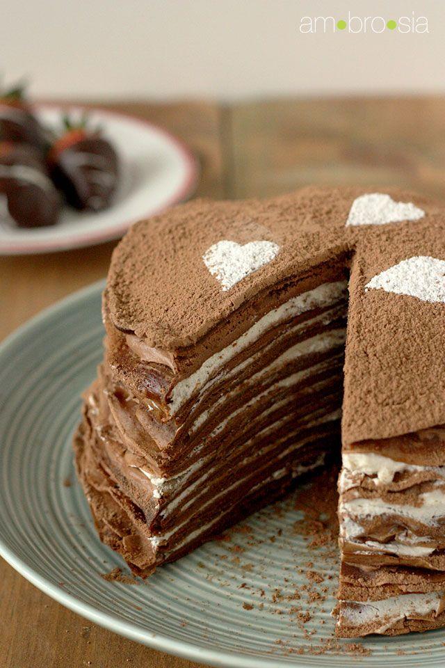 Chocolate Crepe Cake..... Oh sweet infantile Jesus this looks heavenly