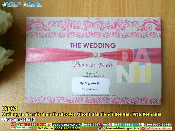 Undangan Pernikahan Hardcover Ghoni Dan Fendi Dengan Pita Pemanis | Souvenir Pernikahan