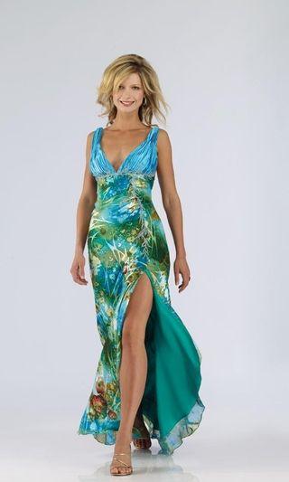 Hawaiian Print Long Dresses for Weddings