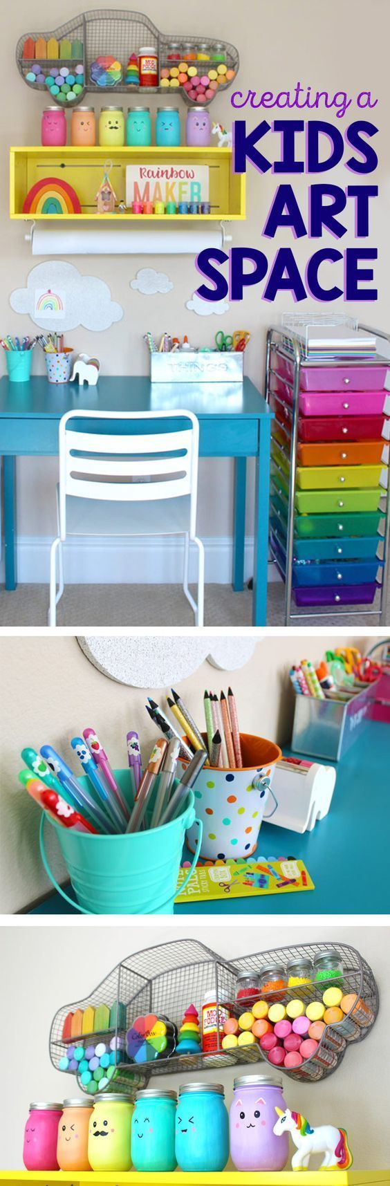 Creating a kids art space- tips ideas!Love this craft cart