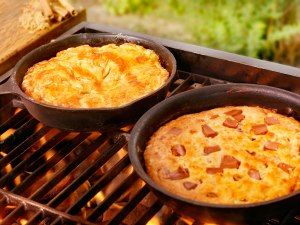Baking on the barbie: End your next backyard barbecue on a sweet note with skillet cookies and pies