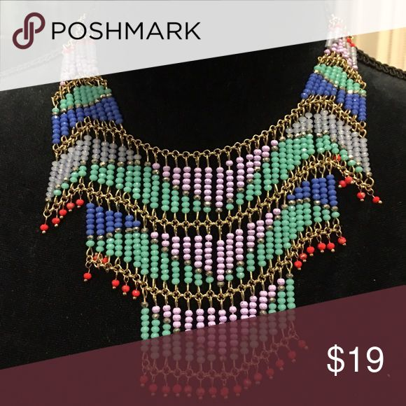 Zara Festive Necklace Dress up that Tee with this colorful necklace! In excellent condition! Zara Jewelry Necklaces