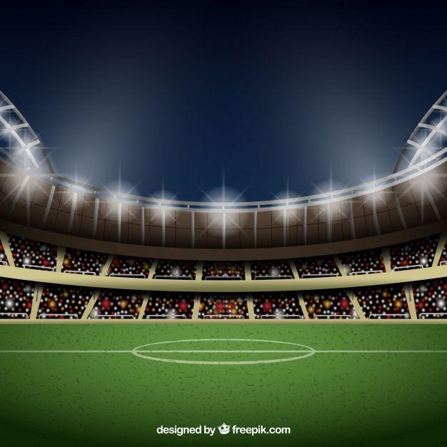 Descarga Gratis Vectores De Fondo De Estadio De Futbol En Estilo Realista Estadio De Futbol Cancha De Futbol Cancha De Futbol Dibujo