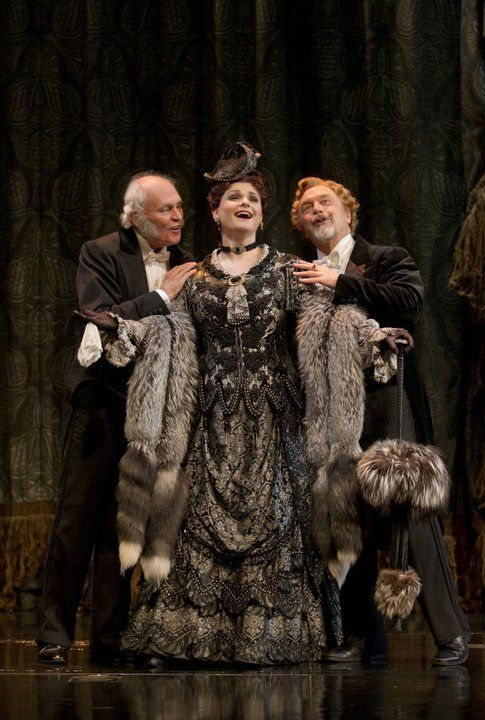 DAVID CRYER as Monsieur Firmin, MICHELE McCONNELL as Carlotta and GEORGE LEE ANDREWS as Monsieur Andre Photo: JOAN MARCUS