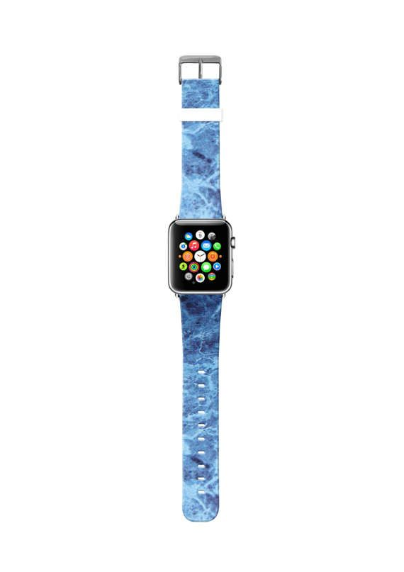 Blauw marmeren Apple Watch Band 38mm blauw marmeren Apple