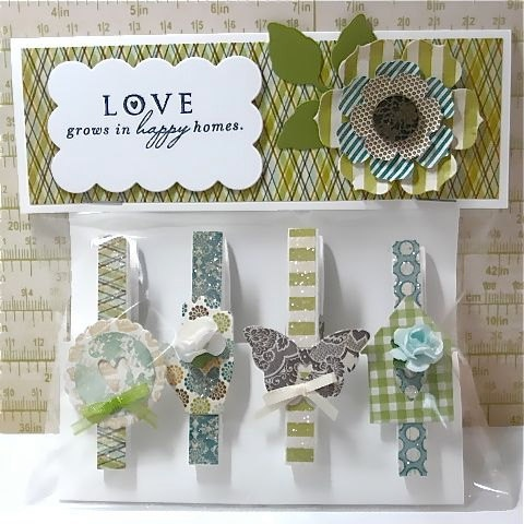 Clothespin magnet gift set by TwoPaperAngels on Etsy, $12.00