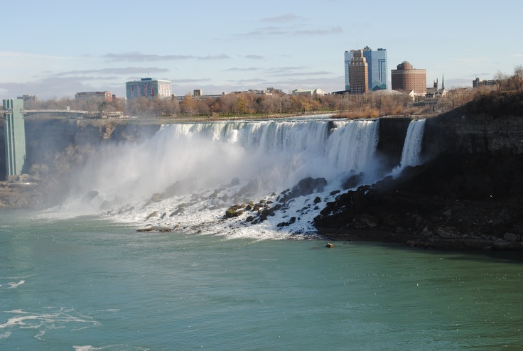 The American side of the Niagara Falls.