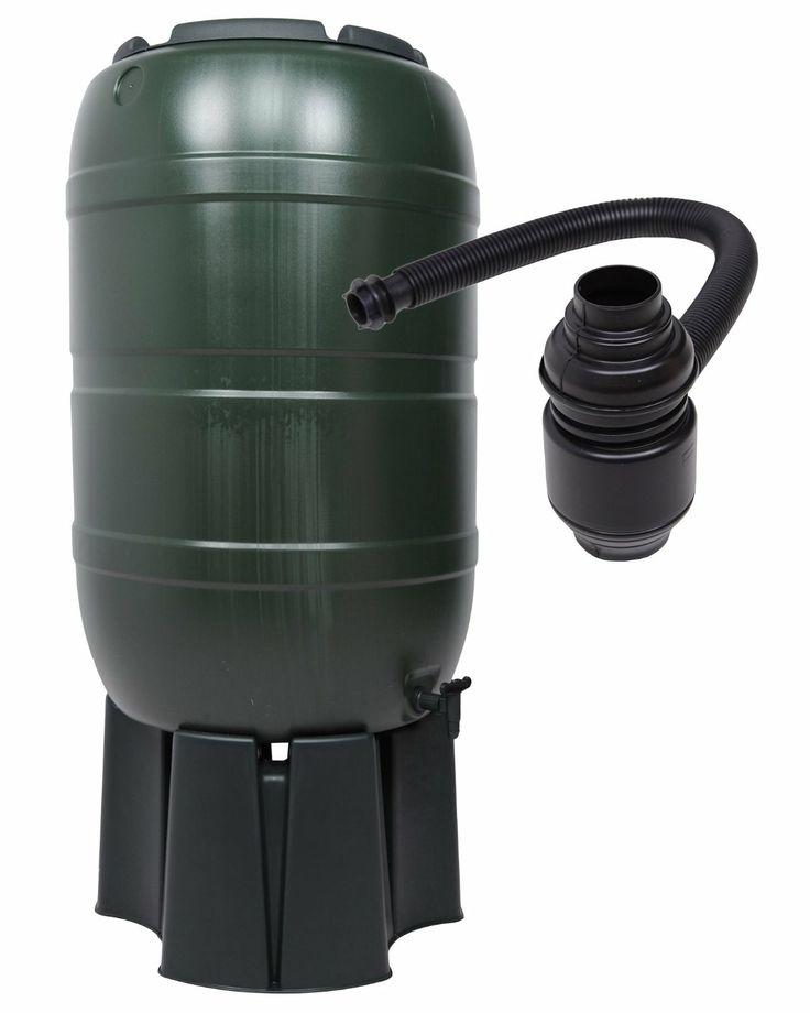 Regensammler Wassertonne für 210 Liter mit Standfuß, Füllautomat (Befüllsystem) und einem Verbindungs-Set für Wassertechnik: Amazon.de: Gart...