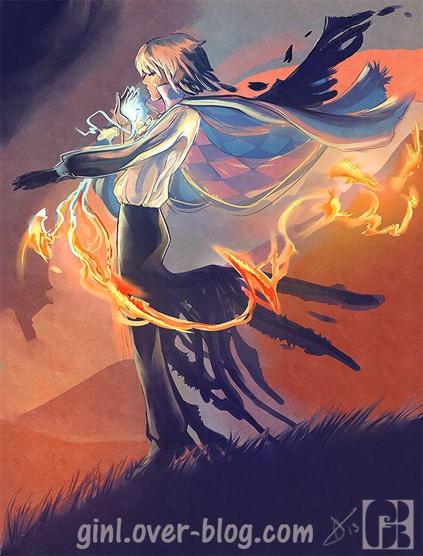 "Hauru by ginL.deviantart.com on @deviantART - From Miyazaki's ""Howl's Moving Castle"""