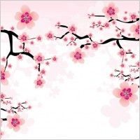 Flower plum 01 vector