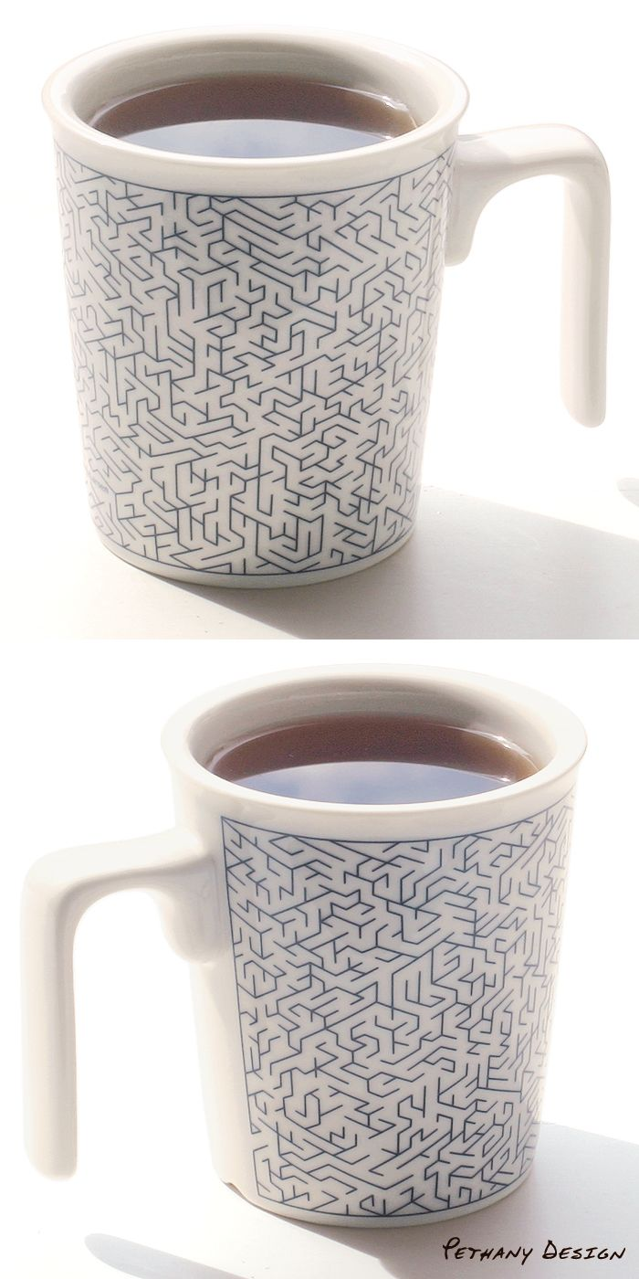 [ Play Maze Kissing Mug ] Material: Porcelain; Designed in 2015 for Pethany+Larsen. Made in Taiwan.