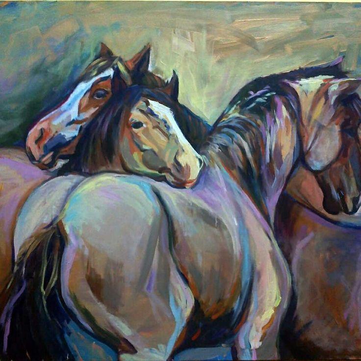 Oil canvas  Ölü atlar vadisi serisinden