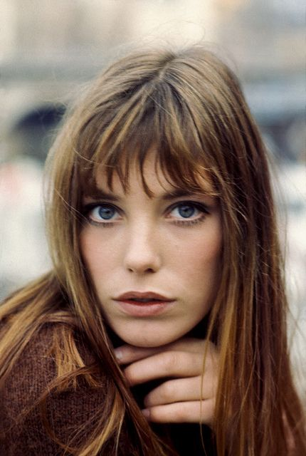 Blue Eyes Jane Birkin, circa 1969. Love this picture. Have realised that this is the look of now.