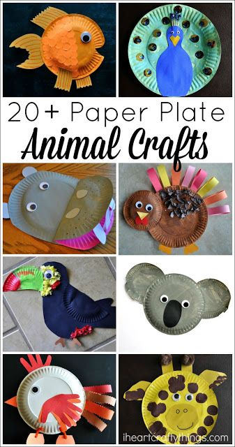 Paper plates animal upcycle school project