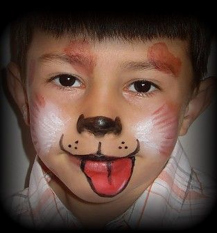 dog face painting
