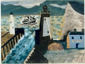 John Piper, Newhaven, The Castle, 1934