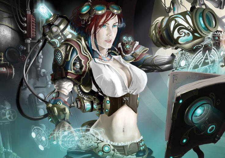 Steampunk Technics Fantasy Fantasy Girls