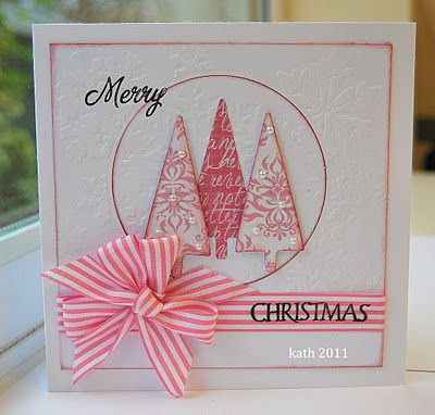 Love this card but the pink doesn't say Christmas for me