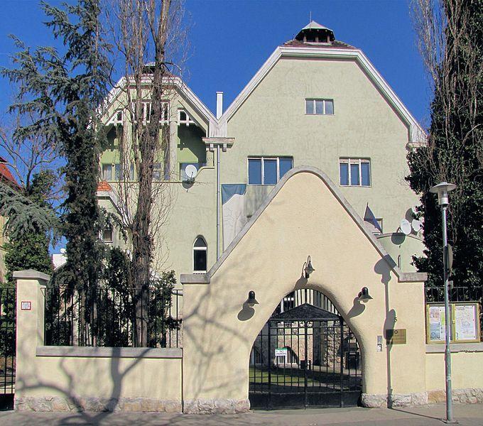 Former Malonyai Villa, today the Romanian Cultural Institute, Budapest, Hungary. Architect: Béla Lajta. (1873-1920)