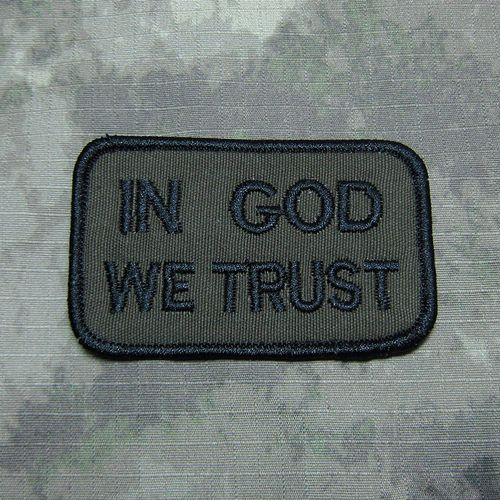 Green  Act of Valor 160th SOAR NSWDG Devgru SealTeam ST6 IN GOD WE TRUST Military Tactical Morale Embroidery patch B2717